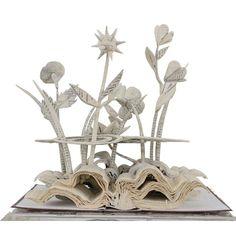 Book Sculpture-Wilderness wildflowers
