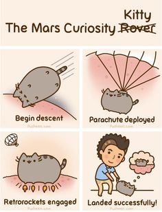 Pusheen The Cat - Animated Gif - The Mars Curiosity Kitty Fat Cats, Cats And Kittens, Crazy Cat Lady, Crazy Cats, Pusheen Stormy, Pusheen Love, Pusheen Stuff, Gato Anime, Simons Cat
