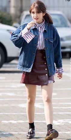 Denim Jacket Airport Fashion of Jeon Somi