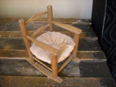 "primitive country wood rocking doll chair display furniture rocks for sale in my store The Chic N Prim cottage ebay have to put in the ""the "" in search engine $13 + FREE Shipping when you spend $30 or more! crafted watermelon napkin holder summer table7"" toy"