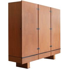 French Oak Armoire by Maxime Old, circa 1950 | 1stdibs.com
