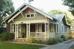 shortgrass prairie by behr - exterior paint colors on adorable craftsman style bungalow Behr Exterior Paint, Green Exterior Paints, Exterior Paint Colors For House, Paint Colors For Home, Exterior Colors, Grey Exterior, Exterior Shades, Behr Paint, Paint Colours