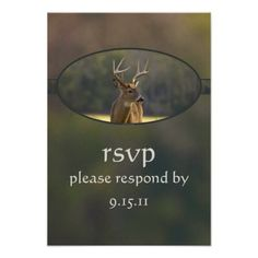 DealsBuck Hunting Camo Green Wedding Reception RSVP Personalized AnnouncementIn our offer link above you will see