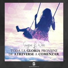 """Toda la gloria proviene de atreverse a comenzar"". —Eugene F. Ware— Visítanos: http://www.elsalvadorebooks.com"