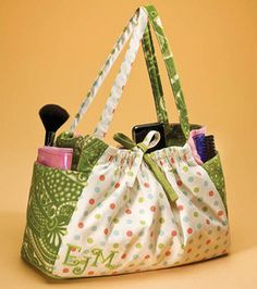 this is called a bridesmaid bag, but would be a great sewing bag!