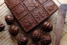 Gingerbread baked in a Nordic Ware nut pan and shortbread pan. Tasty as it looks. Becca Dilley / Heavy Table