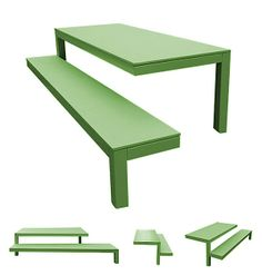 Two-legged outdoor bench!