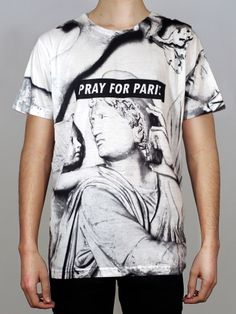 Pray for Paris white marble t-shirt (all-over print) Pray For Paris, White Marble, Unisex, T Shirt, Clothes, Tops, Fashion, Supreme T Shirt, Outfits