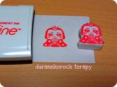 スモールはんこ ひな祭り♪おひな様とお内裏様の巻 small stamp Hinamatsuri the Girls' Festival Ohinasama and Odairisama
