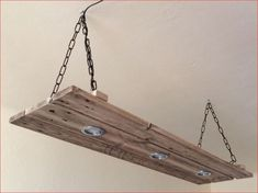 Suspension / ceiling lamp / lamp wood / rustic lamp of Holzkunst Celtic Wallonia Rustic Lamps, Rustic Lighting, Wood Chandelier, Roof Light, Wooden Lamp, Wood Ceilings, Woodworking Projects Diy, Wood Bars, Light Fittings