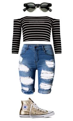 """Summer is Upon Us"" by melodychild ❤ liked on Polyvore featuring Converse and Topshop"