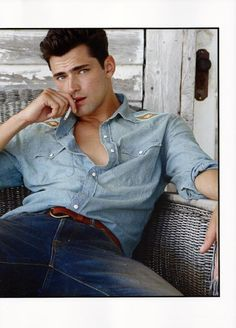 """Sean O'Pry in """"Ralph Lauren Iconic Style"""" for Fashion For Men Magazine"""