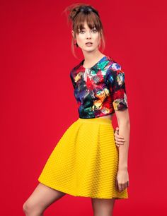 Jac Jagaciak Channels Pop Art Chic in H&M Gallery Girl Shoot