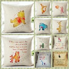 Pooh Minimalist Cushion Pillow Cover