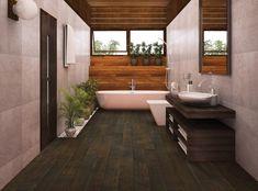 42 Super Creative DIY Bathroom Storage Projects to Organize Your Bathroom on a Budget - The Trending House Teak Bathroom, Bathroom Plants, Bathroom Spa, Bathroom Flooring, Master Bathroom, Bathroom Remodeling, Bathroom Ideas, Tropical Bathroom, Stone Bathroom