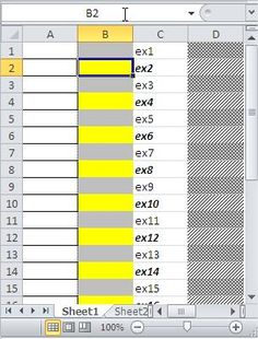 Excel Conditional Formatting Highlight every other row
