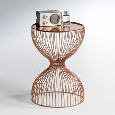 Image Janik Wire Cage Bedside Table La Redoute Interieurs