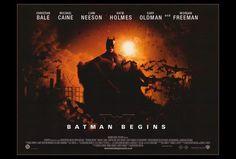Batman Begins 27 x 40 Movie Poster, Christian Bale, D