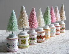 bottlebrush tree - vintage modern christmas kitsch.  via Etsy.