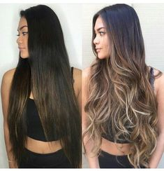 How to take care of dyed hair - - How to take care of dyed hair Tolle haare Wie man sich um gefärbtes Haar kümmert – Just Trendy Girls Brown Hair Balayage, Hair Color Balayage, Hair Highlights, Ombre Hair, Balayage Brunette Long, Long Brunette Hair, Bayalage, Hair Color And Cut, Hair Transformation