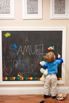 DIY: Magnetic Chalkboard Wall « The Culinary Couple