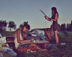 so much loveliness here, #dreadlocks, creativity and the great outdoors