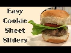 When feeding a large group, this is an easy way to make a lot of burger sandwiches. This is a guide about easy cookie sheet sliders. Appetizers For Party, Appetizer Recipes, Dinner Recipes, Homemade Fish And Chips, Grilling Recipes, Cooking Recipes, Sheet Pan Suppers, Slider Recipes, Cooking For A Crowd