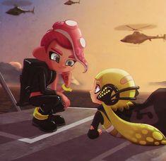 Splatoon 2 Game, Splatoon Squid, Splatoon Memes, Splatoon Comics, Nintendo Characters, Super Smash Bros, Best Games, Cute Love, Kawaii Anime