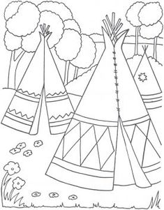 coloring page Native Americans on Kids-n-Fun. Coloring pages of Native Americans on Kids-n-Fun. More than coloring pages. At Kids-n-Fun you will always find the nicest coloring pages first! Cool Coloring Pages, Coloring Pages To Print, Free Printable Coloring Pages, Adult Coloring Pages, Coloring Pages For Kids, Coloring Books, Teenager Party, Anniversaire Cow-boy, Pilgrims And Indians