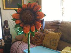 My first sunflower Polymer Clay Art, Wreaths, Fall, Home Decor, Autumn, Homemade Home Decor, Door Wreaths, Deco Mesh Wreaths, Garlands