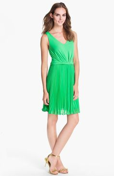 Suzi Chin for Maggy Boutique Pleated Chiffon Dress available at #Nordstrom