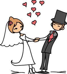 La boda, el matrimonio, la ceremonia, la recepción, la celebración, la pareja, los novios, el amor, el vestido de novia, el velo, el traje, la luna de miel, casar(se), celebrar