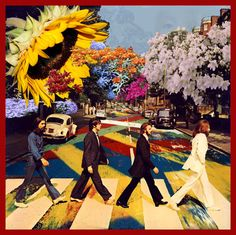 Here are some trippy psychedelic style Beatles art and graphics. There are images from the Yellow Submarine Movie, Sgt. Pepper, Abbey road, etc. If you have other trippy Beatles images Psychedelic Art, Les Beatles, Beatles Art, Beatles Poster, Beatles Guitar, Beatles Love, Photo Wall Collage, Collage Art, Posters Vintage
