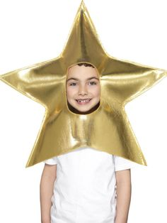 Sombrero de estrella dorada niño Navidad. Star CostumeChristmas ...  sc 1 st  Pinterest & Child Christmas Star Costume | school plays | Pinterest | Star ...