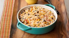 Rice and Black Beans. Serve as a side dish with chicken, pork and fish, or serve as a filling for burritos. Going to try with enchiladas tonight. Epicure Recipes, Cajun Recipes, Veggie Recipes, Healthy Recipes, Yummy Recipes, Side Dishes Easy, Side Dish Recipes, Dinner Recipes, Plat Simple