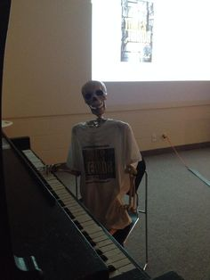 Barnaby at the Terryberry Branch of Hamilton Public Library - ready to play some eerie music to accompany a presentation about TOMES OF TERROR Ready To Play, Book Signing, Hamilton, Bones, Presentation, Public, Batman, Author, Superhero