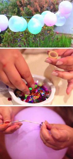 Balloon Garland   DIY Summer Party Ideas for Kids