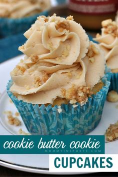 Do you love cookie butter? Why not try adding it to cupcakes?! You can crumble up cookie butter cookies in the batter and add cookie butter to the frosting! It's a delicious recipe for any party!