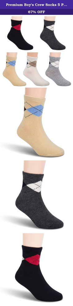 Premium Boy's Crew Socks 5 Pack by Tycipe-Durable & Super Comfortable - From 2-12 Yrs. Keep Your Boys In Style with Our Classy, Argyle Crew Socks! With their classic, argyle pattern, these cute boys' trouser socks are great for fashionable boys, who want to look smart and stylish every time! Conveniently combined in a multipack of 5 pairs, this is also a convenient and money saving solution for all moms! Cool & Comfy Elegant and super comfortable, our premium quality boys' socks are…