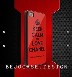 keep calm and love chanel red for iphone 5 and iphone 4/s case