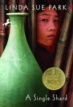 2002 - A Single Shard by Linda Sue Park - Tree-ear, a thirteen-year-old orphan in medieval Korea, lives under a bridge in a potters' village, and longs to learn how to throw the delicate celadon ceramics himself.