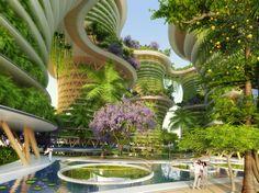 Los eco-barrios 'Hyperion' de Vincent Callebaut producirían energía en la India
