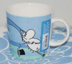 Moomin Mug Dolphin Dive Arabia Finland Summer 2007 Finland Summer, Moomin Mugs, Tove Jansson, Teacups, Drinking Tea, Dolphins, Diving, Coffee Cups, Scandinavian