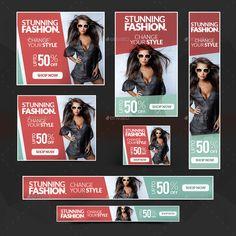 Fashion Banners Bundle - 10 Sets - 160 Banners #Bundle, #Banners, #Fashion, #Sets Ads Banner, Banner Ideas, Digital Banner, Promotional Banners, Fashion Banner, Web Banners, Website Layout, Poster Designs, Illustrator Tutorials