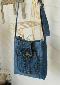 Recycled denim bag recycle design ready to go hobo bag recycle jeans denim bag shoulder bag n – Artofit Bag Jeans, Denim Tote Bags, Jeans Denim, Diy Denim Purse, Denim Overalls, Denim Bags From Jeans, Diy With Jeans, Diy Bags Jeans, Diy Old Jeans