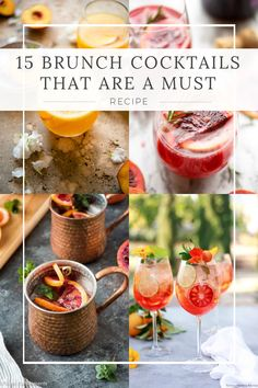 Don't get stuck serving the same boring cocktails at your next brunch, try one of these 15 brunch cocktails that are a must! Brunch Recipes, Cocktail Recipes, Cocktails, Brunch Ideas, Bahama Mama Cocktail, White Wine Spritzer, Raspberry Mojito, Blueberry Scones, Breakfast Items