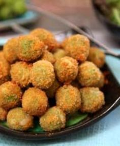 Cheese Stuffed Fried Green Olives