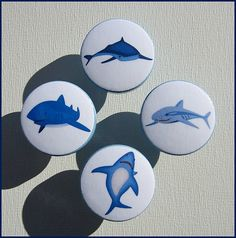 Shark Knobs Drawer Knobs Hammerhead by SweetPetitesBoutique