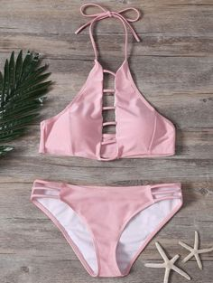 SHARE & Get it FREE | Ladder Cutout High Neck Bathing Suit - PinkFor Fashion Lovers only:80,000+ Items • New Arrivals Daily Join Zaful: Get YOUR $50 NOW!