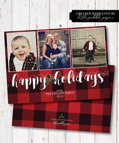 seasonal plaid christmas card square corners red plaid christmas